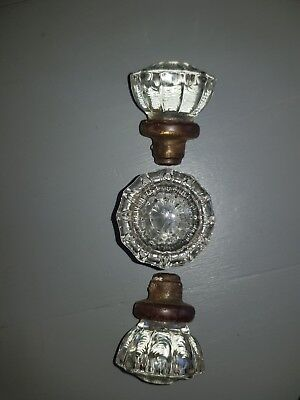 Antique Vintage Clear Glass Door Knob