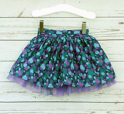 Ted Baker Baby Girls Spotted Tu Tu Purple Green Net Flared Skirt 12-18 Months