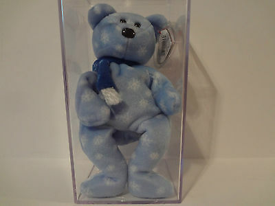 1999 Holiday Teddy Beanie Baby TY Errors Retired Comes With Case