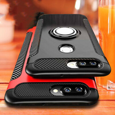 For Huaiwei Honor Play 8X 9 10 Shockproof Hybrid Magnetic Ring Stand Case Cover