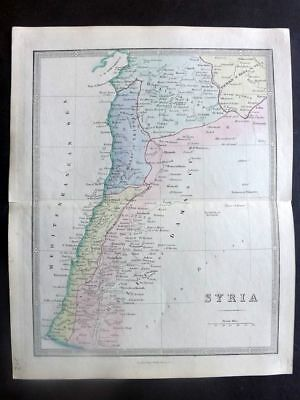James Wyld C1840 Antique Hand Col Map. Syria
