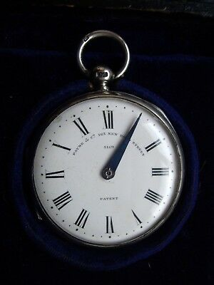 Superb Payne & Co Solid Silver Pocket Pedometer Hallmarked 1883 :fully Working
