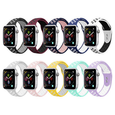US For Apple Watch iWatch Silicone Replacement Sports Strap Watch Band 42mm 38mm