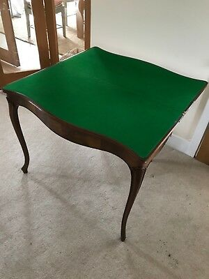 Antique mahogony card table