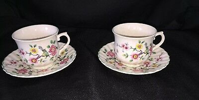 Set 2 James Kent Old Foley Chinese Rose Cups & Saucer's 8pc