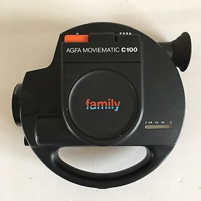 Retro AGFA family Moviematic C100 Super 8 Cine Film Movie Camera