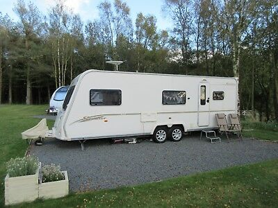 Bailey Senator Carolina Twin Axle 6 Berth Caravan 2007 Fixed Bunks