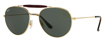 76288cac70597 Ray-Ban Clubmaster Sunglasses RB3540 001 Black Gold Green 56mm Free Shipping