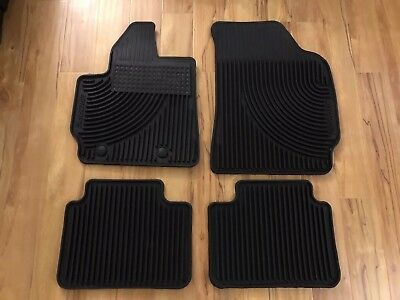 2011 2012 Escape OEM Genuine Ford Parts Rubber All Weather Floor Mat Set USED*
