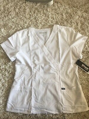 Grey's Anatomy 2 Pocket Crossover Scrub Top