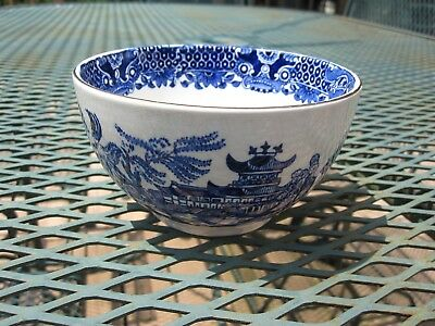 Burgess & Leigh - Burleigh Ware Willow Cranberry Bowl - Rice, Cereal