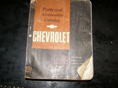 Vintage 1933 1962 Chevrolet Body Parts and Accessories Book Corvette Truck