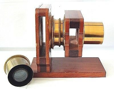 Optical Accessory Mahogany & brass holder use not known looks interesting NR