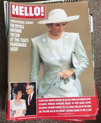 1988 Issues of HELLO! Magazine, 22 issues total, Read once then stored.