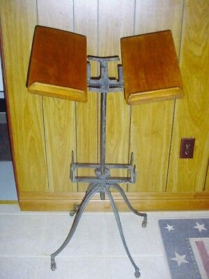 Antique Victorian Dictionary Bible Book Stand
