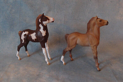 Pair Of Mustang Foals`100% Donation To Help Real Mustang Foals~Breyer Classic Cm