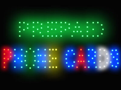 3Q0544 Prepaid Phone Cards International Long-Distance Low Rate Light LED Sign