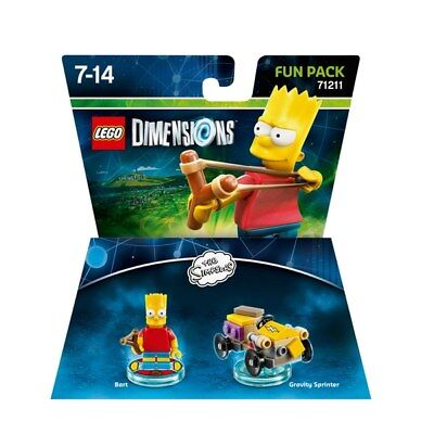 LEGO Dimensions Bart Simpson Fun Pack New & Sealed 71211 kids Child Toy PS4 xbox