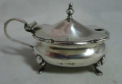 Antique Silver Mustard Pot Walker & Hall Birmingham 1923 80g A677317