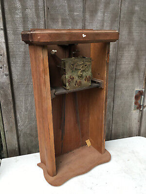 Vintage Maple Wall Clock DRPa Movement Westminster for Parts / Repair ML39