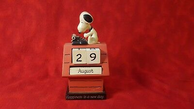 Hallmark Peanuts Snoopy & Red Doghouse Happiness Is A New Day Perpetual Calendar
