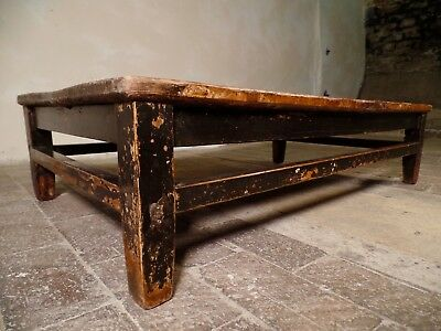 18th century Antique Rare Oriental Chinese Low Ebonised Wooden Coffee Table