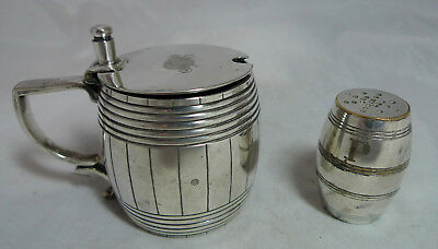 Victorian Silver Plated Mustard Pot & Matched Pepper Elkington 1880 A677917