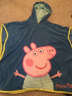 Peppa Pig Swim Towel Throw On 5-6 Yrs Marks&spencer Great Condition