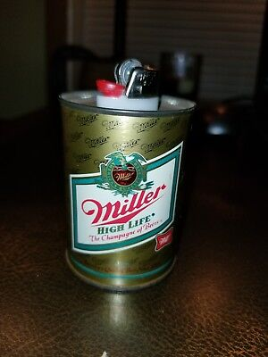 Vintage 1970s Miller High Life Beer Can Table Lighter (Refillable)