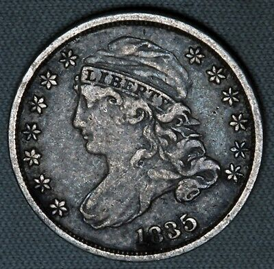 1835 10C Capped Bust Dime Early USA Type Coin Original Crusty