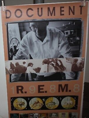 "R.E.M. Document Original VIntage Promo Poster 24"" x 38"" New Unused"