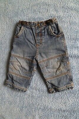Baby clothes BOY 6-9m NEW! NEXT fade blue denim jeans/trousers lined SEE SHOP!