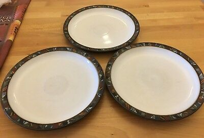 Denby Marrakesh Dinner Plates X 3 - Large 26cm Size, First Quality, Job Lot