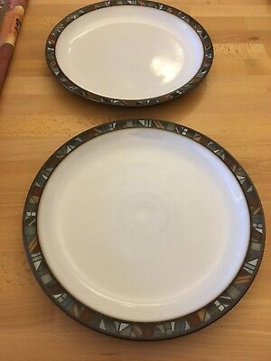 Denby Marrakesh 2 dinner plates -seconds in good condition- no chips, cracks etc
