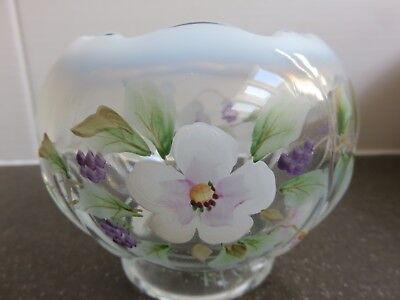 Vintage Fenton Hand Painted Glass signed Anderson / Fenton Ref: 2172