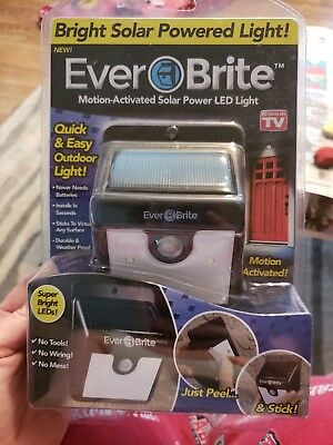 Ever Brite Motion Activated Solar Power Outdoor LED Light – No Tools Required