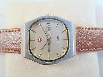 Vintage Rado Voyager Day-Date Automatic Original Dial Swiss Made Wrist Watch #m1