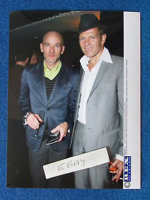 "Original Press Photo - 8""x6"" - R.E.M. - Michael Stipe & Paul Simonon - The Clash"