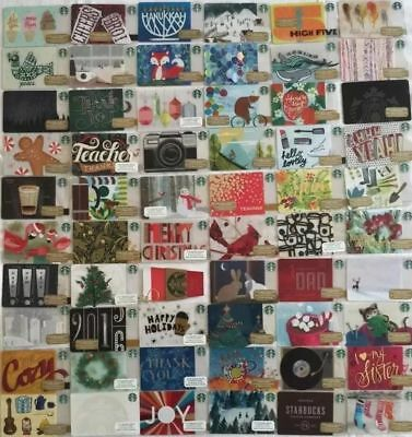 Lot 60 Starbucks 2015 Christmas Holiday Gift Cards set (New)