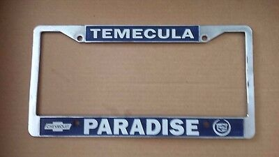 Temecula (California) Paradise Chevrolet And Cadillac Metal License Plate  Frame