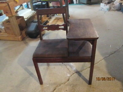 Vintage Telephone Table And Seat Combo