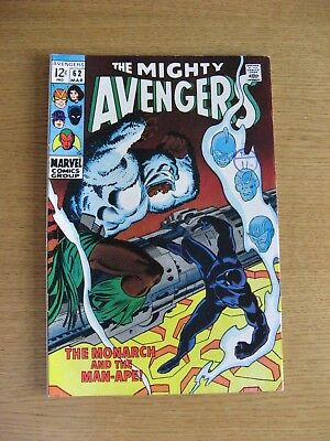 Avengers #62 [VF+/NM] (1969 Marvel) Silver Age Classic 1st app Man-Ape