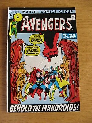 Avengers #94 [NM- condition] Roy Thomas script, Neal Adams art, scarce issue