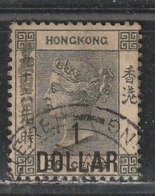 1891 British colony stamp, Hong Kong QV $1 on 96c, used SG 50