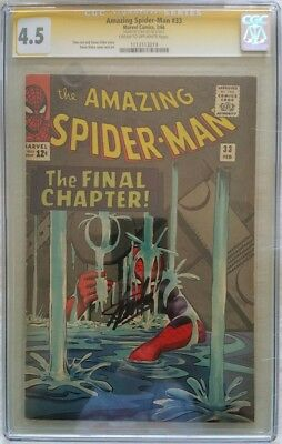 Amazing Spiderman 33 Cgc Ss Signed By Stan Lee
