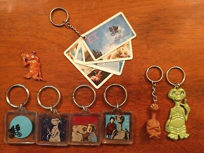 E.T.  Vintage Keychains. (Lot of 7)