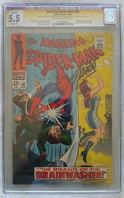 Amazing Spiderman 59 Cgc Ss Signed By Stan Lee. ...restored. ....