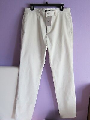 14c4255a3fe $225 THEORY Men's Straight Stretch Ivory Pants NEW WITH TAGS Waist: 17.5