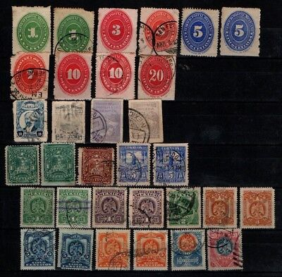 Mexico 1886 onwards early selection Mint Used 64 stamps (2 scans)