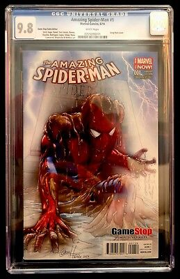 Amazing Spider-man #1 CGC 9.8 NM Game Stop Fade Edition Rare Greg Horne